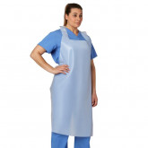 MEDLINE Disposable Polyethylene Adult Aprons,White 500 EA / CS