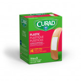 MEDLINE CURAD Plastic Adhesive Bandages,Natural,No 100 EA / BX