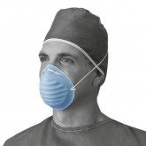 MEDLINE Surgical Cone-Style Face Mask,Blue 300 EA / CS