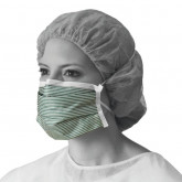 MEDLINE N95 Flat Fold Respirator Masks,White/Green,One Size Fits Most 35 EA / BX