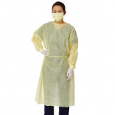 MEDLINE Medium Weight Multi-Ply Fluid Resistant Isolation Gown,Yellow,Regular/Large 100 EA / CS