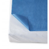 MEDLINE Disposable Flat Bed Sheets,Dark Blue 50 Each / Case