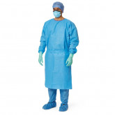 MEDLINE AAMI Level 3 Isolation Gowns,Blue,X-Large 50 EA / CS