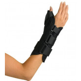 MEDLINE Wrist and Forearm Splint with Abducted Thumb,Large 1 EA / EA