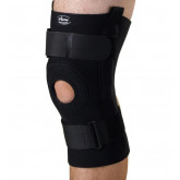 MEDLINE U-Shaped Hinged Knee Supports,Black,4X-Large 1 EA / EA