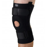 MEDLINE U-Shaped Hinged Knee Supports,Black,Large 1 EA / EA