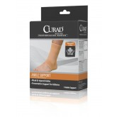MEDLINE CURAD Elastic Open Heel Ankle Supports,Beige,Medium 4 Each / Case