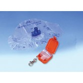 ADC Corporation Adsafe CPR Face Shield Plus w/Mouthpc & 1-Way Valve Orange