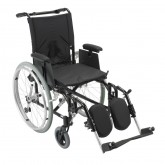 "Drive Medical Cougar Ultra Lightweight Rehab Wheelchair, Elevating Leg Rests, 16"" Seat"