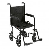 "Drive Medical Lightweight Transport Wheelchair, 19"" Seat, Black"