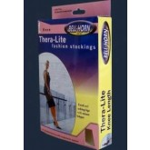 DJO / Bell-Horn Closed Toe Thigh Stockings Black  Large  20-30 mmHg