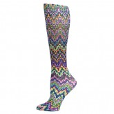 Blue Jay An Elite Healthcare Brand Blue Jay Fashion Socks (pr) Blue Fleur Missoni 8-15mmHg