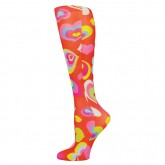 Blue Jay An Elite Healthcare Brand Blue Jay Fashion Socks (pr) Red Multi Hearts 8-15mmHg