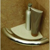 HealthCraft Products Inc. Invisia Corner Shelf Grab Bar Chrome Plated