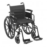 """Drive Medical Cruiser X4 Lightweight Dual Axle Wheelchair with Adjustable Detachable Arms, Desk Arms, Swing Away Footrests, 16"""" Seat"""