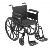 """Drive Medical Cruiser X4 Lightweight Dual Axle Wheelchair with Adjustable Detachable Arms, Full Arms, Swing Away Footrests, 18"""" Seat"""