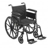 """Drive Medical Cruiser X4 Lightweight Dual Axle Wheelchair with Adjustable Detachable Arms, Full Arms, Swing Away Footrests, 20"""" Seat"""