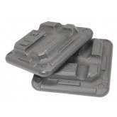 Escalade Sports Health Step Risers Only-2  Grey  (Set/2)