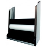 Ideal Medical Products Inc Foam Roll Wall Storage Rack Polished Stainless Steel