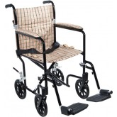 Drive Medical Fly Weight Chair19  Alum Tan / Plaid