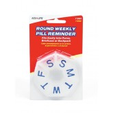 Apothecary Products Inc Round Weekly Pill Box Clear