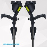 New Ergobaum 3G Junior Shock Absorber Crutches (Users 3'9'' to 5'-Black 1 Pair)