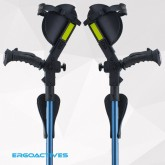 New Ergobaum 3G Junior Shock Absorber Crutches (Users 3'9'' to 5'-Blue 1 Pair)