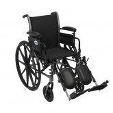"""Drive Medical Cruiser III Light Weight Wheelchair with Flip Back Removable Arms, Adjustable Height Desk Arms, Elevating Leg Rests, 16"""""""