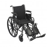 """Drive Medical Cruiser III Light Weight Wheelchair with Flip Back Removable Arms, Desk Arms, Elevating Leg Rests, 16"""" Seat"""