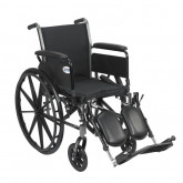 """Drive Medical Cruiser III Light Weight Wheelchair with Flip Back Removable Arms, Full Arms, Elevating Leg Rests, 16"""" Seat"""