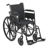 """Drive Medical Cruiser III Light Weight Wheelchair with Flip Back Removable Arms, Full Arms, Swing away Footrests, 16"""" Seat"""