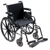 """Drive Medical Cruiser III Light Weight Wheelchair with Flip Back Removable Arms, Desk Arms, Swing away Footrests, 20"""" Seat"""