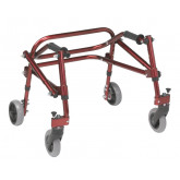 Inspired by Drive Nimbo 2G Lightweight Posterior Walker, Extra Small, Castle Red