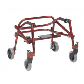 Inspired by Drive Nimbo 2G Lightweight Posterior Walker with Seat, Extra Small, Castle Red