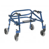 Inspired by Drive Nimbo 2G Lightweight Posterior Walker with Seat, Extra Small, Knight Blue
