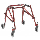Inspired by Drive Nimbo 2G Lightweight Posterior Walker, Small, Castle Red