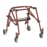 Inspired by Drive Nimbo 2G Lightweight Posterior Walker with Seat, Small, Castle Red