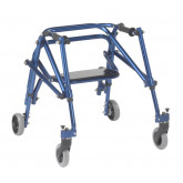 Inspired by Drive Nimbo 2G Lightweight Posterior Walker with Seat, Small, Knight Blue