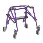 Inspired by Drive Nimbo 2G Lightweight Posterior Walker with Seat, Small, Wizard Purple