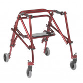 Inspired by Drive Nimbo 2G Lightweight Posterior Walker with Seat, Medium, Castle Red