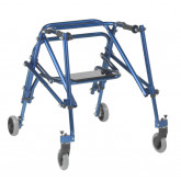 Inspired by Drive Nimbo 2G Lightweight Posterior Walker with Seat, Medium, Knight Blue