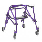 Inspired by Drive Nimbo 2G Lightweight Posterior Walker with Seat, Medium, Wizard Purple