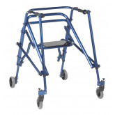 Inspired by Drive Nimbo 2G Lightweight Posterior Walker with Seat, Large, Knight Blue