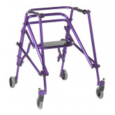 Inspired by Drive Nimbo 2G Lightweight Posterior Walker with Seat, Large, Wizard Purple