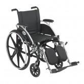 """Drive Medical Viper Wheelchair with Flip Back Removable Arms, Desk Arms, Elevating Leg Rests, 12"""" Seat"""