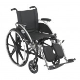 """Drive Medical Viper Wheelchair with Flip Back Removable Arms, Desk Arms, Elevating Leg Rests, 14"""" Seat"""