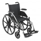 """Drive Medical Viper Wheelchair with Flip Back Removable Arms, Desk Arms, Swing away Footrests, 14"""" Seat"""