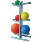 Ideal Medical Products Inc Medicine Ball Rack for 6 Balls Free Standing