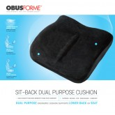 ObusForme The Sitback Cushion Obusforme  Black