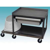 Ideal Medical Products Inc 2 Shelf Stainless Cart w/ Drawer